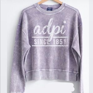 Sorority corded sweatshirt